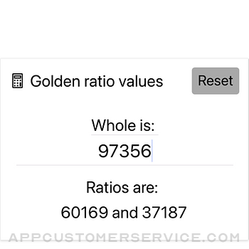 Golden Ratio Calculator Lite iphone image 1