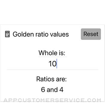 Golden Ratio Calculator Lite iphone image 2