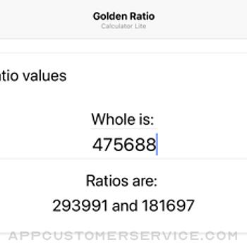 Golden Ratio Calculator Lite iphone image 3