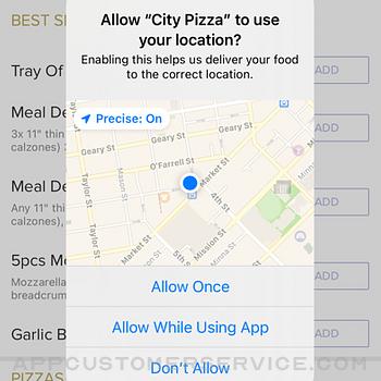 City Pizza. iphone image 2