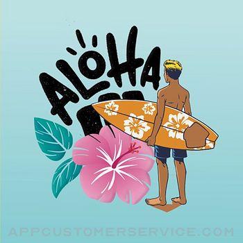 Sunshine Hawaii Luau Stickers Customer Service