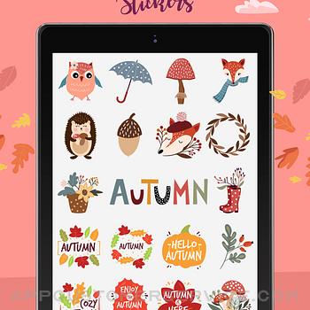 Happy Autumn Stickers ipad image 2