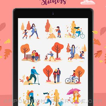Happy Autumn Stickers ipad image 3