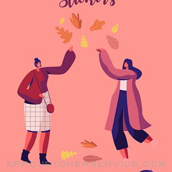 Happy Autumn Stickers iphone image 1