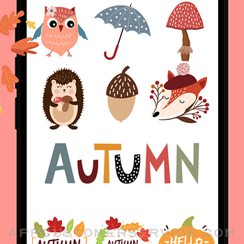 Happy Autumn Stickers iphone image 2