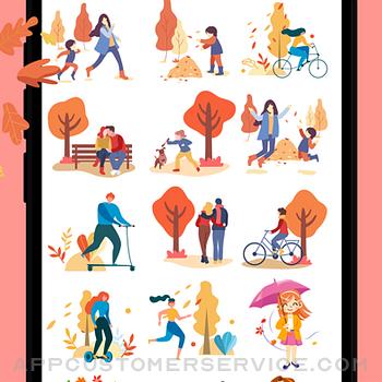 Happy Autumn Stickers iphone image 3