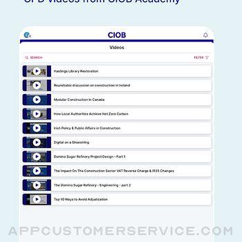 CIOB Connect ipad image 3