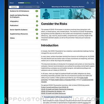 CCOHS Safe Work ipad image 2