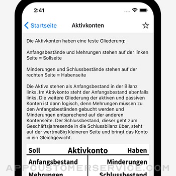 Buchhaltung - Stichworte iphone image 2
