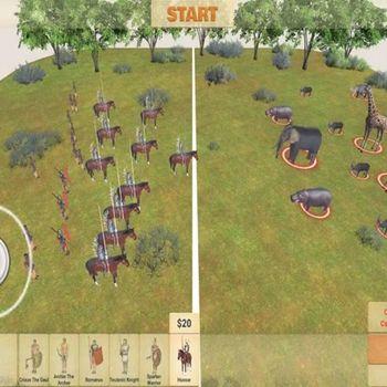 Animal battle simulator:Humans ipad image 4
