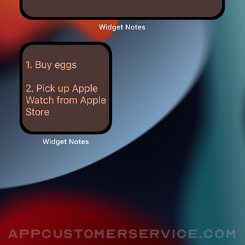 Widget Notes - Home Screen iphone image 3