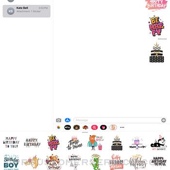 Elegant Birthday Stickers ipad image 2