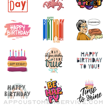 Elegant Birthday Stickers iphone image 2