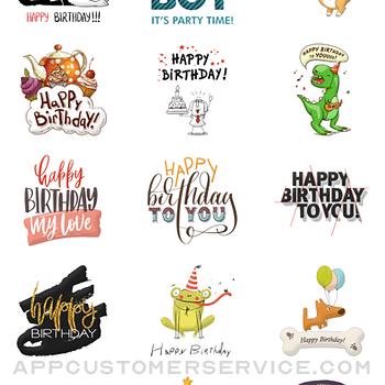 Elegant Birthday Stickers iphone image 3