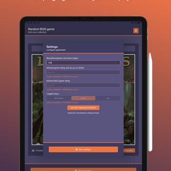 BGG Random Boardgame Selector ipad image 2