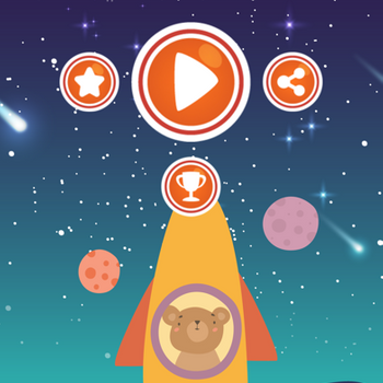 Bear Ride Rocket Math iphone image 1