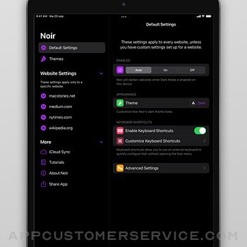 Noir - Dark Mode for Safari ipad image 3