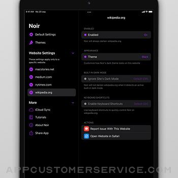 Noir - Dark Mode for Safari ipad image 4