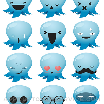 Octopus Emojis! iphone image 2