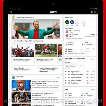 ESPN: Live Sports & Scores ipad image 1
