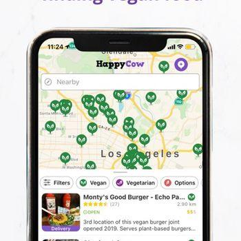 Vegan Food Near You - HappyCow iphone image 1