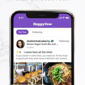 Vegan Food Near You - HappyCow iphone image 2