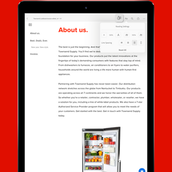 Adobe Acrobat Reader PDF Maker ipad image 4