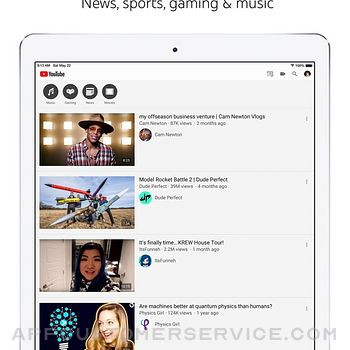 YouTube: Watch, Listen, Stream ipad image 4