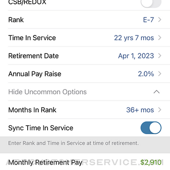 Military Retirement iphone image 3