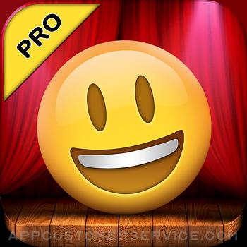 Talking Emoji Pro - Send Video Texting Emoticons using Voice Changer and Dash Emoji Geometry Stick Game Customer Service