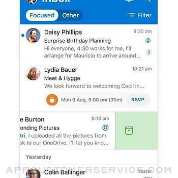 Microsoft Outlook iphone image 1
